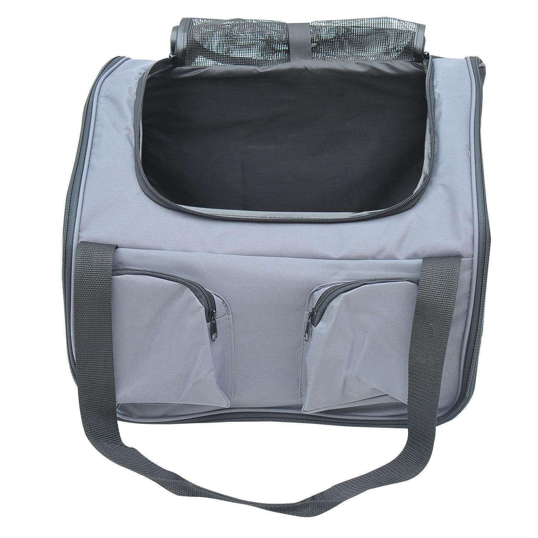 auto hundetasche transportbox hundebox tragetasche autositz katze grau oxford ebay. Black Bedroom Furniture Sets. Home Design Ideas