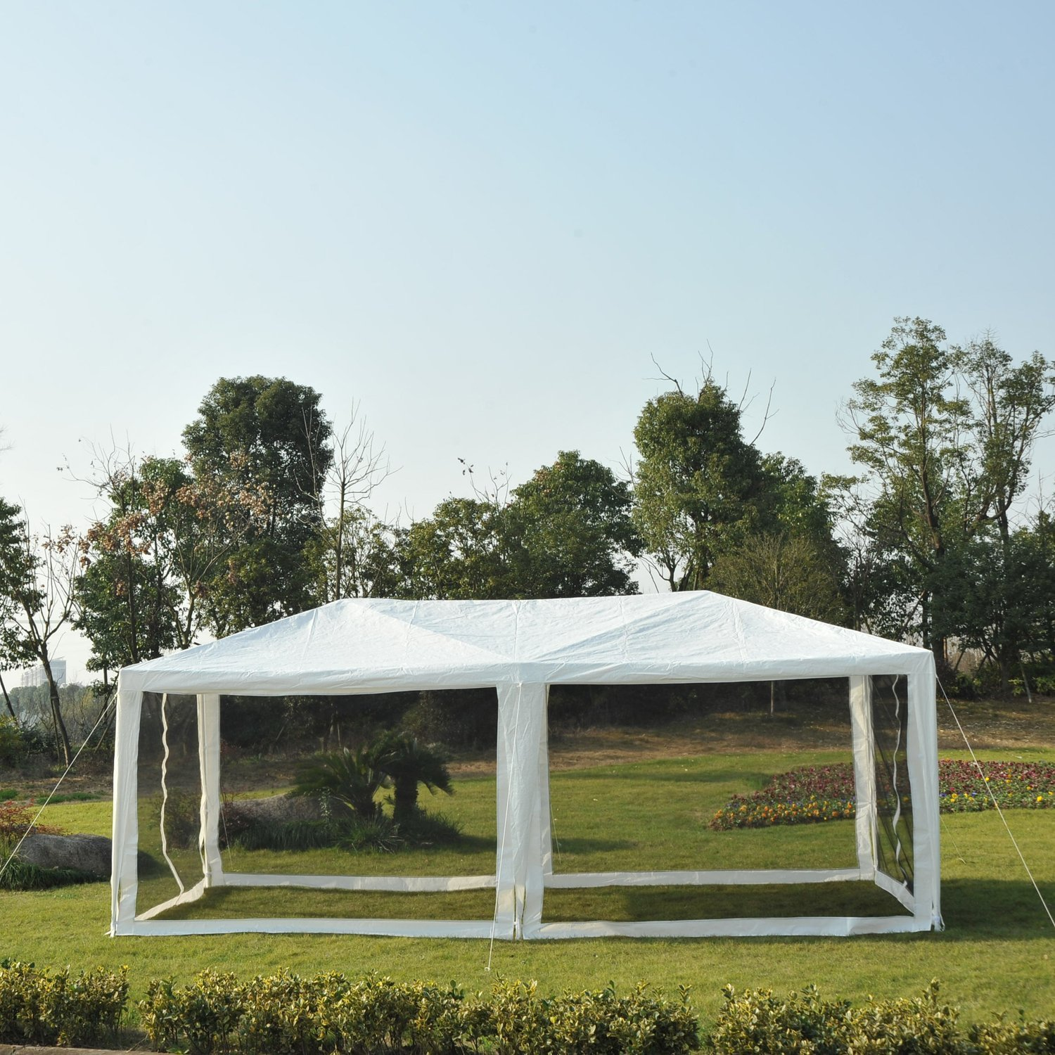 10-039-x-20-039-Gazebo-Canopy-Cover-Tent-Patio-Party-w-Removable-Mesh-Side-Walls thumbnail 13