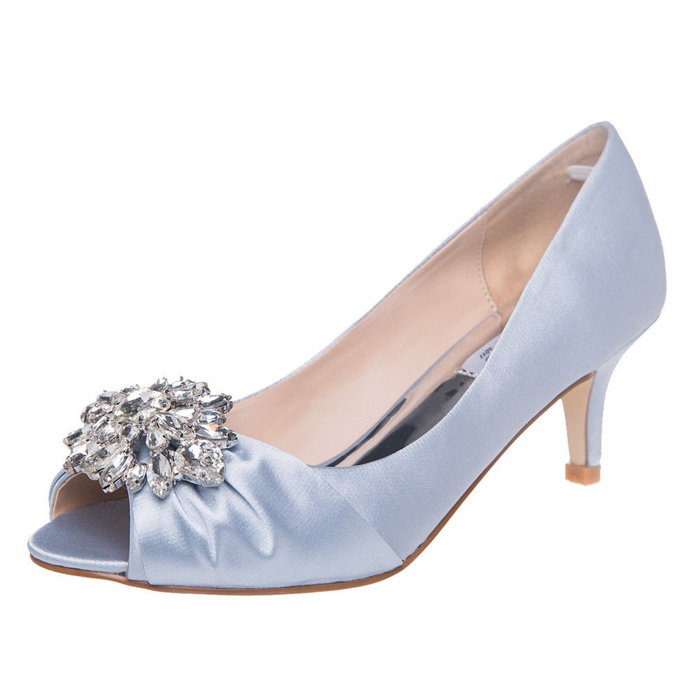 Wedding Dress Shoes: SheSole Womens Low Heels Rhinestone Wedding Prom Shoes
