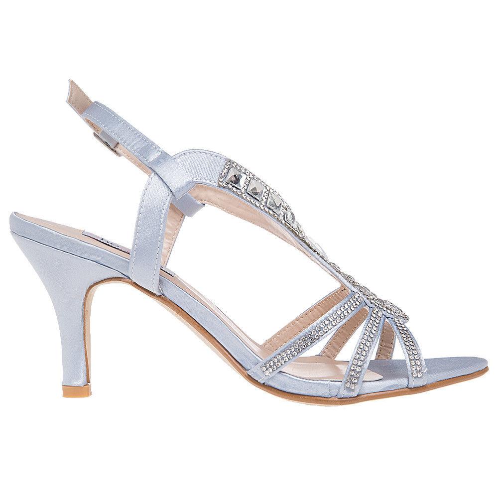 efdfdb9f60d48 US SHIP SheSole Womens Rhinestone Low Heels Sandals Wedding Dress ...