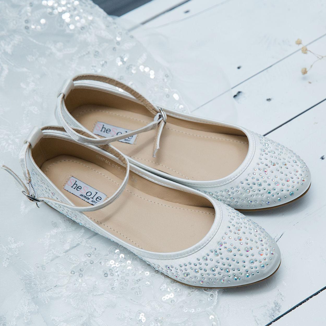 SheSole Womens Ballet Wedding Flats Bridal Flat Shoes Size   eBay