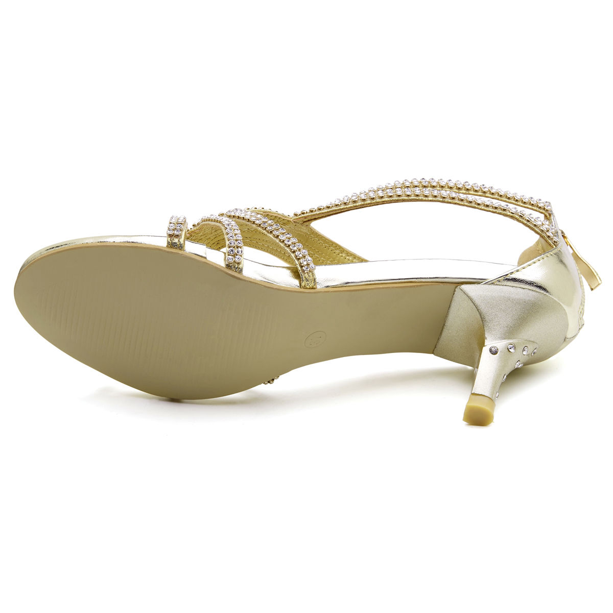 Womens-Ladies-Low-Kitten-Heel-Wedding-Glitter-Sandals-Strappy-Silver-Shoes thumbnail 22