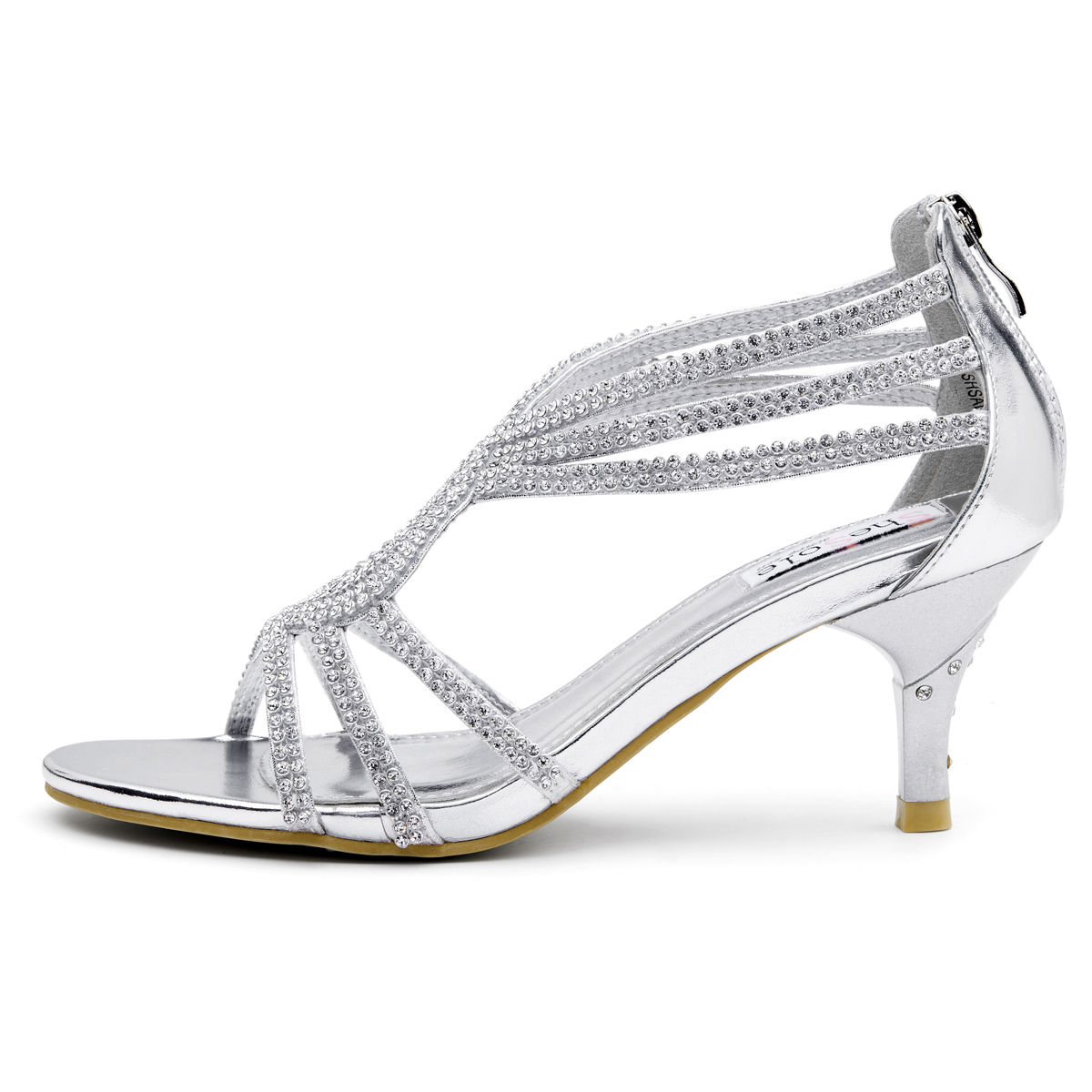Bridal Shoes Silver: SheSole Womens Sandals Heels Shoes Crystal Silver Wedding