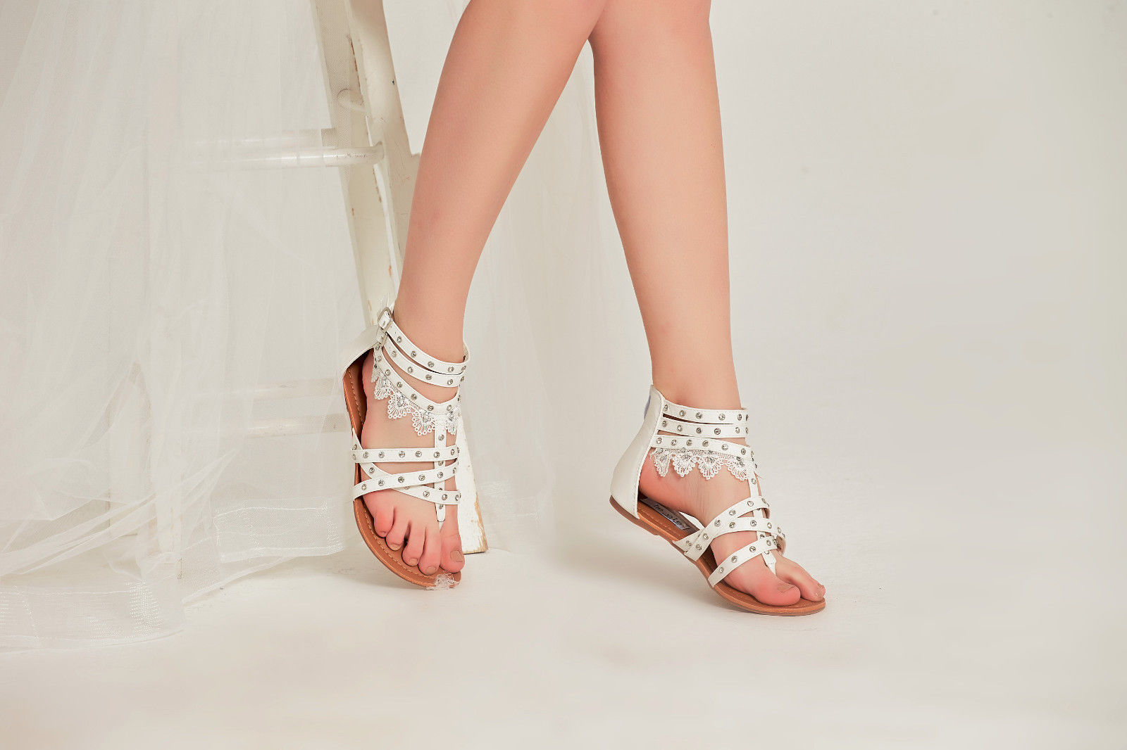 Details about SheSole Womens Summer Shoes Flat Gladiator Sandals Flip Flops Buckle Casual Rome