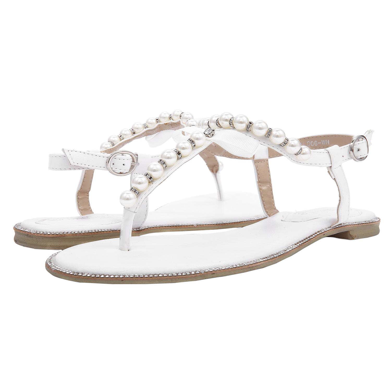 52671b557 SheSole Womens Ladies Beach Wedding Shoes Flat Sandals Flip Flops ...
