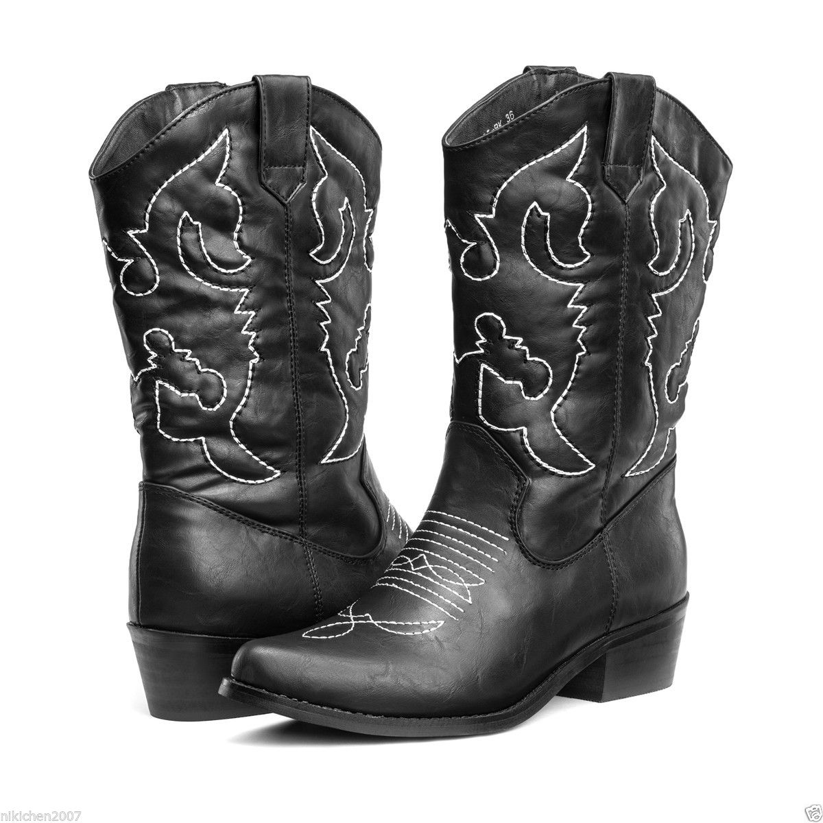 SheSole-Womens-Winter-Wide-Calf-Western-Cowboy-Boots-Wedding-Shoes-Size-5-11