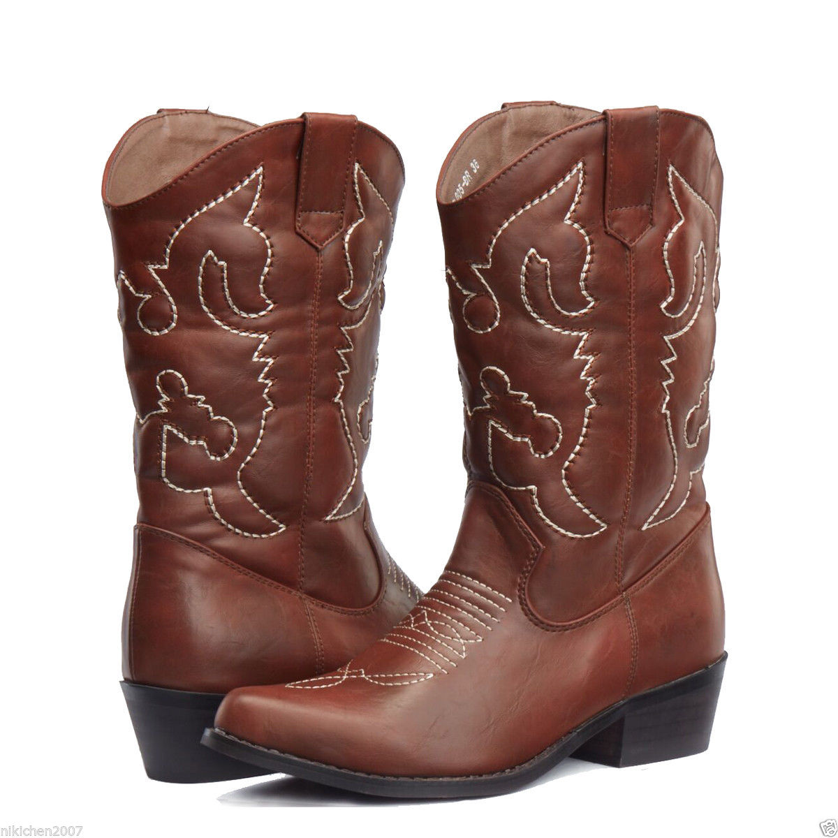 AU-FREE-SHIP-SheSole-Ladies-Cowboy-Cowgirl-Boots-Country-Wedding-Size-5-11