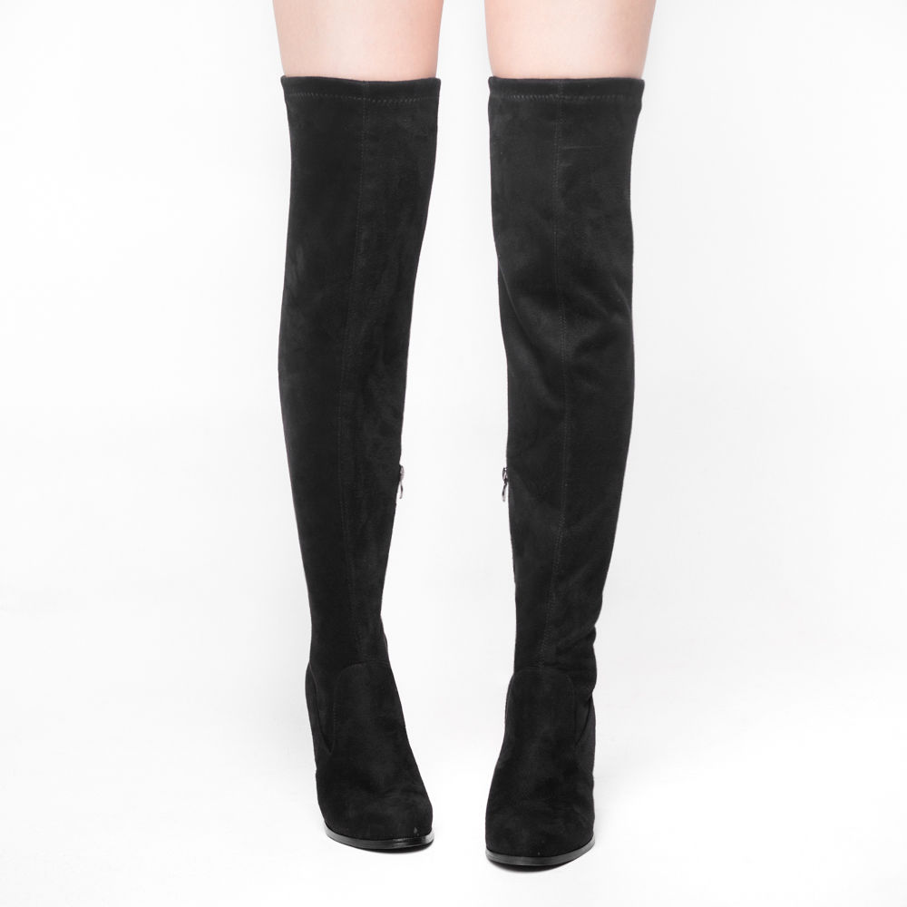 SheSole-Womens-Thigh-High-Boots-Over-The-Knee-Party-Stretch-Block-Mid-Heel-Size