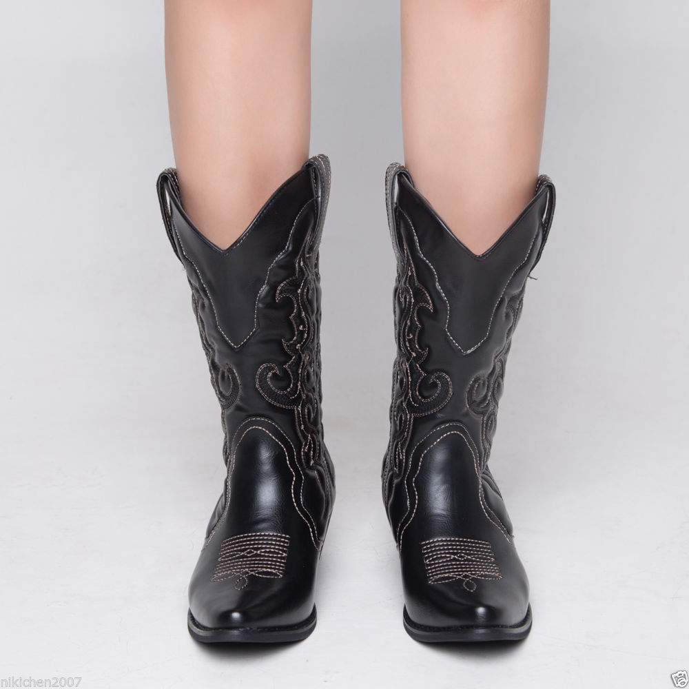 Upgraded-SheSole-Womens-cowgirl-heels-block-western-cowboy-winter-boots-shoes