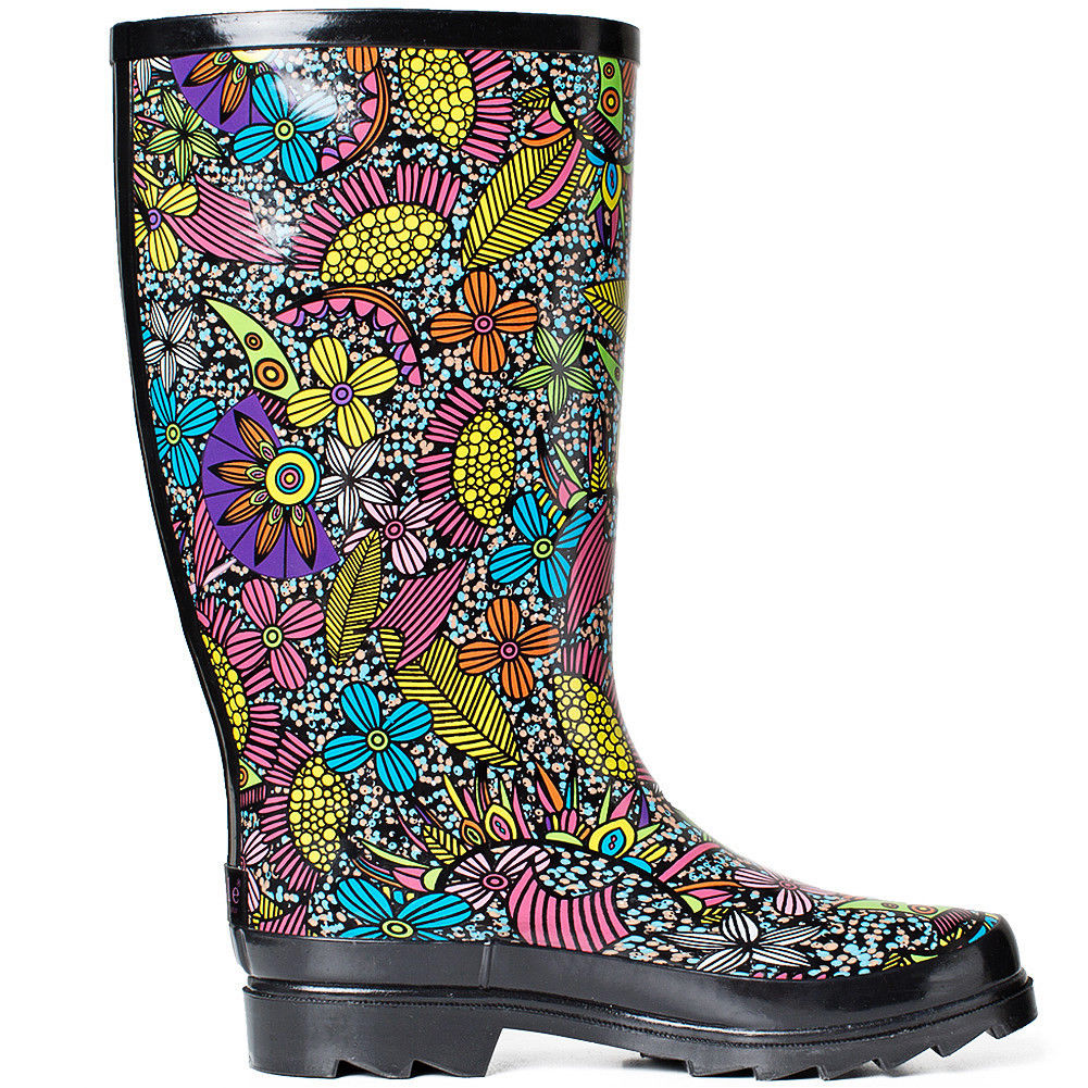 SheSole-Womens-Rubber-Rain-Boots-Waterproof-Gumboots-Wellies-Shoes