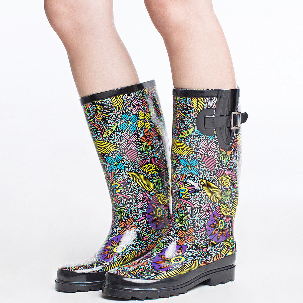 AU-SHIP-SheSole-Women-039-s-Gumboots-Wellington-Rain-Boots-Wellies-Rubber-Waterproff