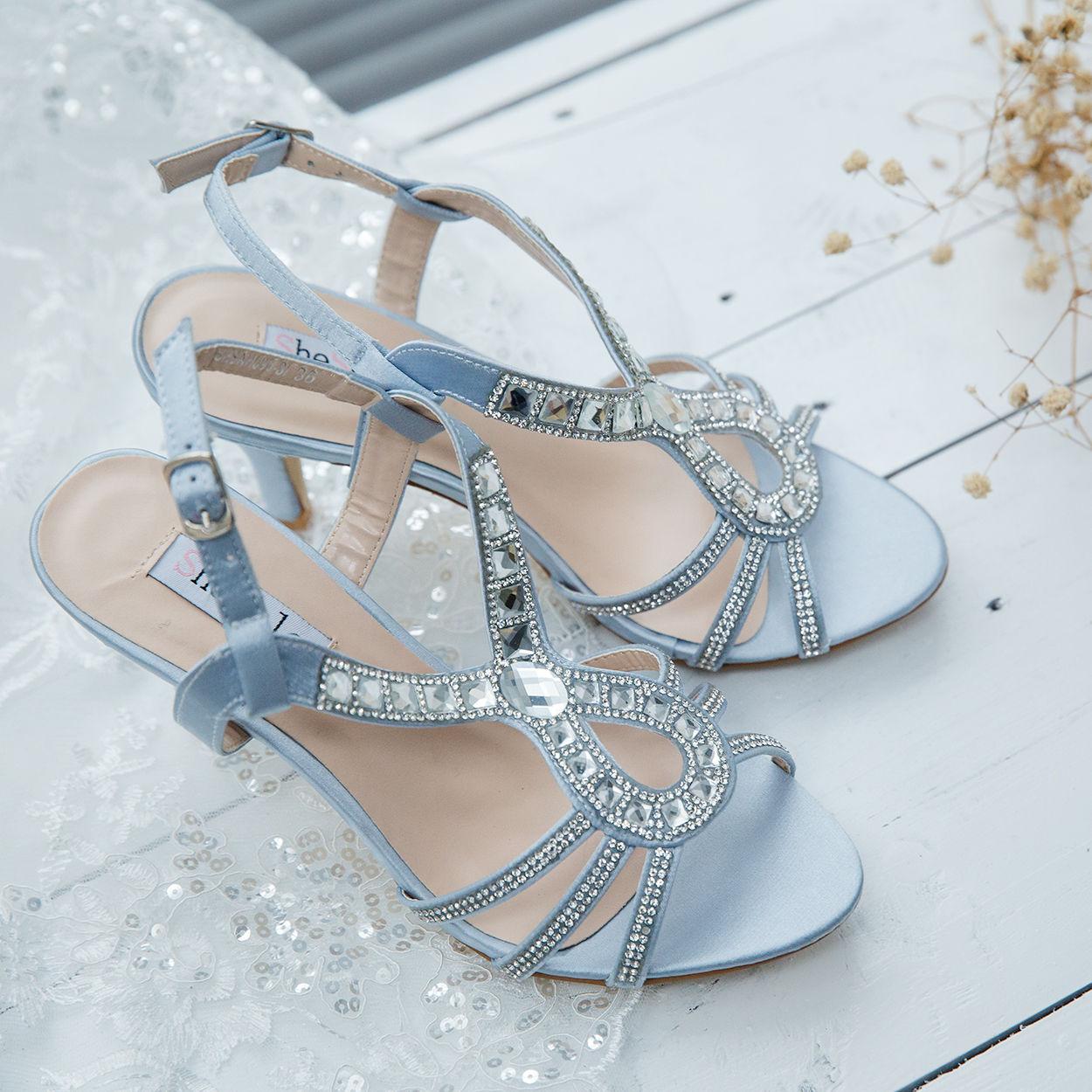 SheSole Womens Rhinestone High Heels Sandals Wedding Dresses Shoes ...