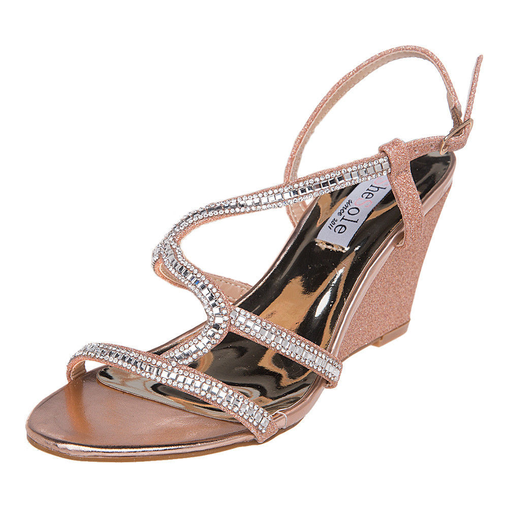 AU-FREE-SHIPPING-SheSole-Womens-Wedge-Sandals-Wedding-Dress-Shoes-Size-5-11