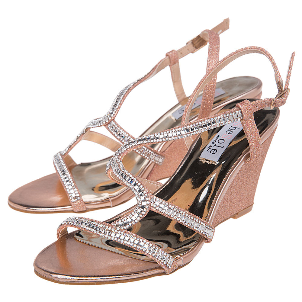 FREE-SHIPPING-SheSole-Womens-Wedge-Sandals-Wedding-Dress-Shoes-Size-5-11