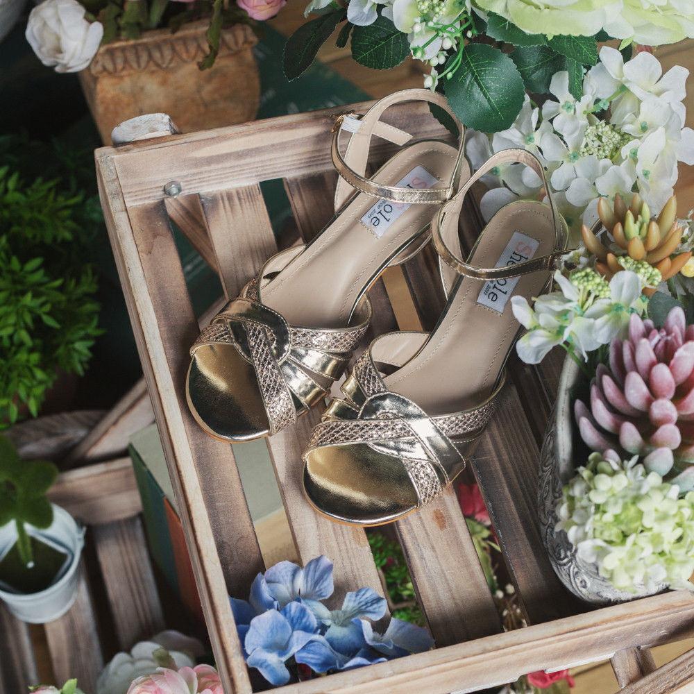 AU-FREE-SHIP-SheSole-Ladies-Wedding-Sandals-Low-Heel-Dress-Bridal-Dance-Shoes