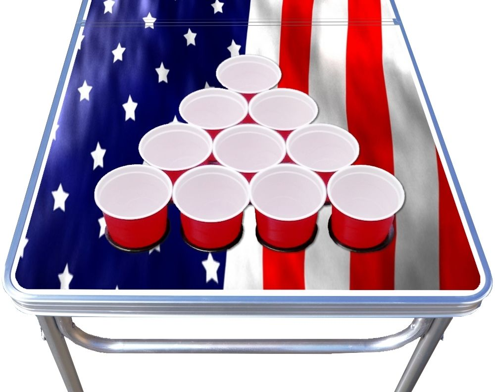 8-Foot-Beer-Pong-Table-w-OPTIONAL-Cup-Holes-amp-LED-Glow-Lights-America thumbnail 11