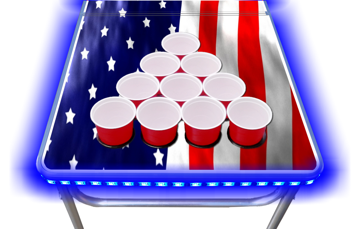8-Foot-Beer-Pong-Table-w-OPTIONAL-Cup-Holes-amp-LED-Glow-Lights-America thumbnail 17