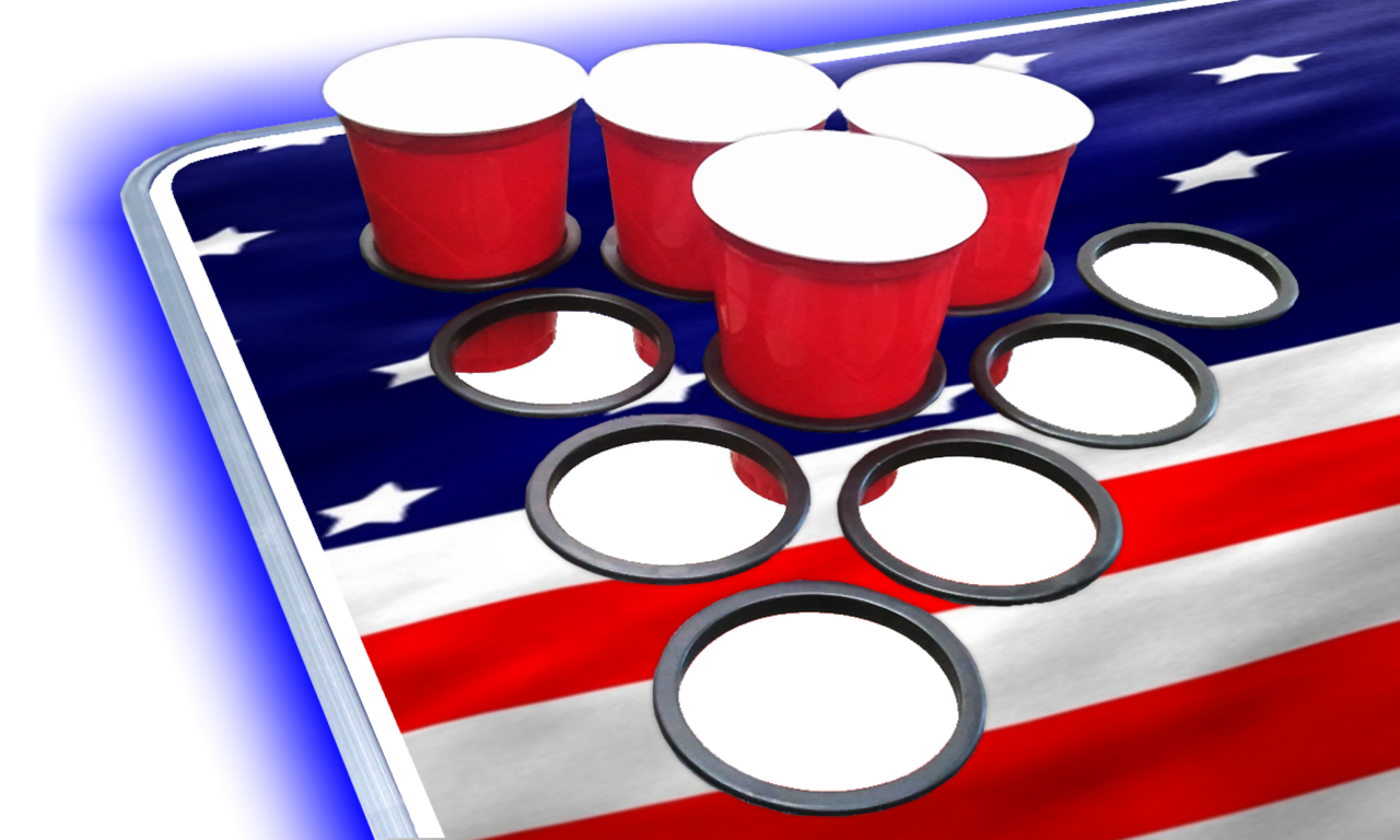 8-Foot-Beer-Pong-Table-w-OPTIONAL-Cup-Holes-amp-LED-Glow-Lights-America thumbnail 18