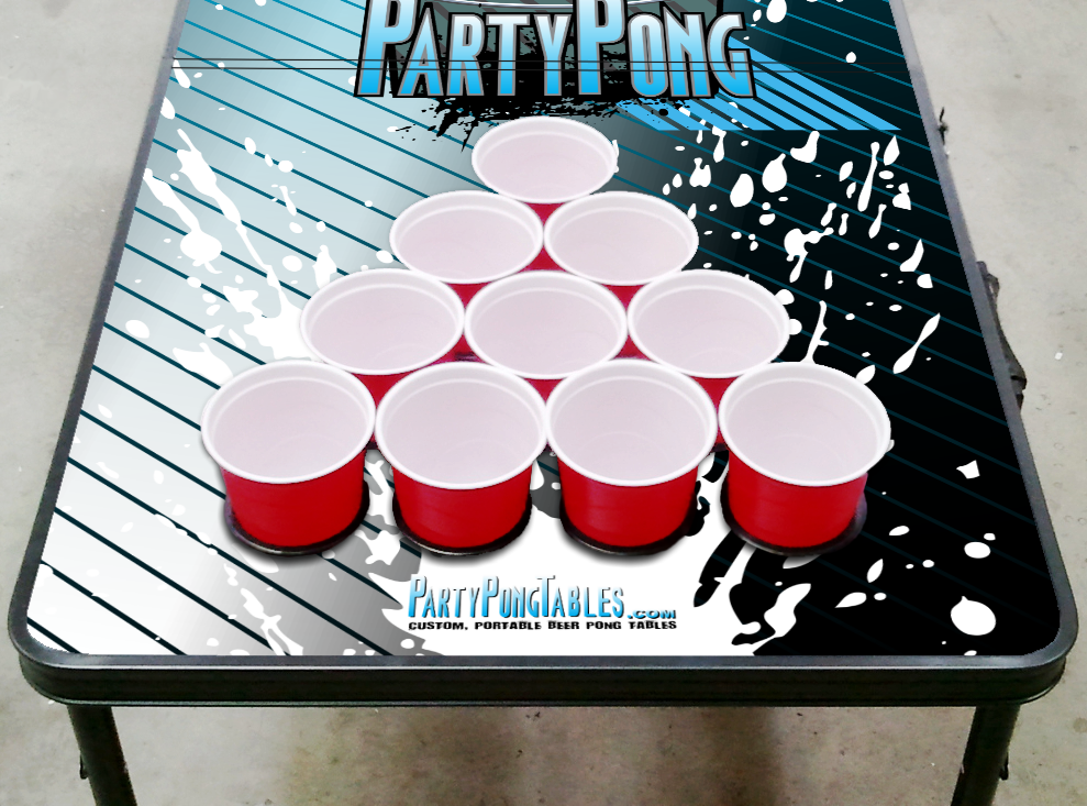 8-Foot-Beer-Pong-Table-w-OPTIONAL-Cup-Holes-amp-LED-Glow-Lights-Splash thumbnail 9