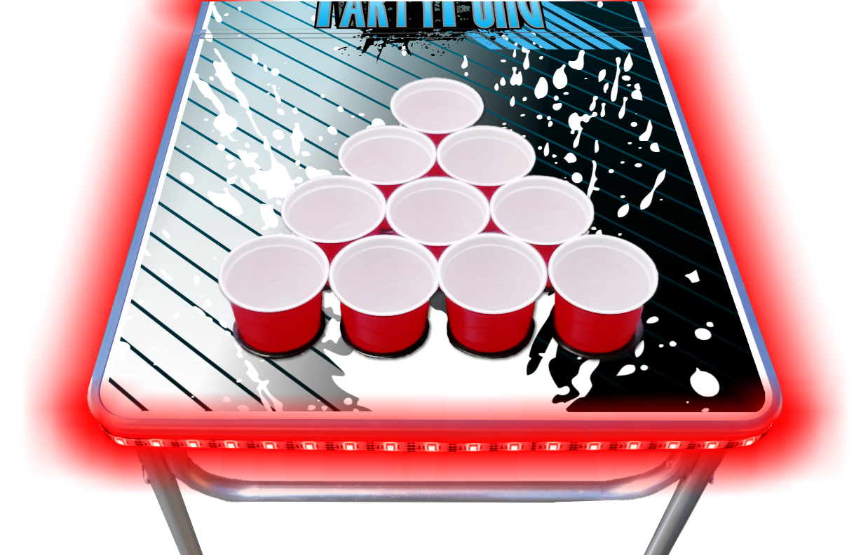 8-Foot-Beer-Pong-Table-w-OPTIONAL-Cup-Holes-amp-LED-Glow-Lights-Splash thumbnail 15
