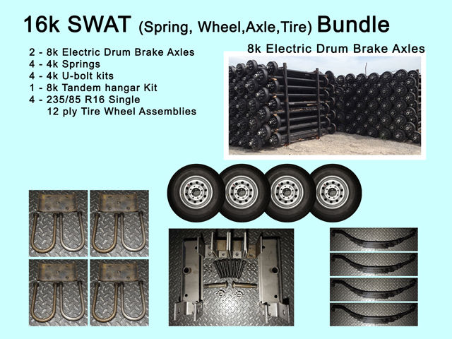 16k swat 4 16 tire wheels 235 85 r16 2 8k 8000 lb axles 16k swat 4 16 tire wheels 235 85 r16 2 8k 8000 lb axles trailer kit publicscrutiny Gallery