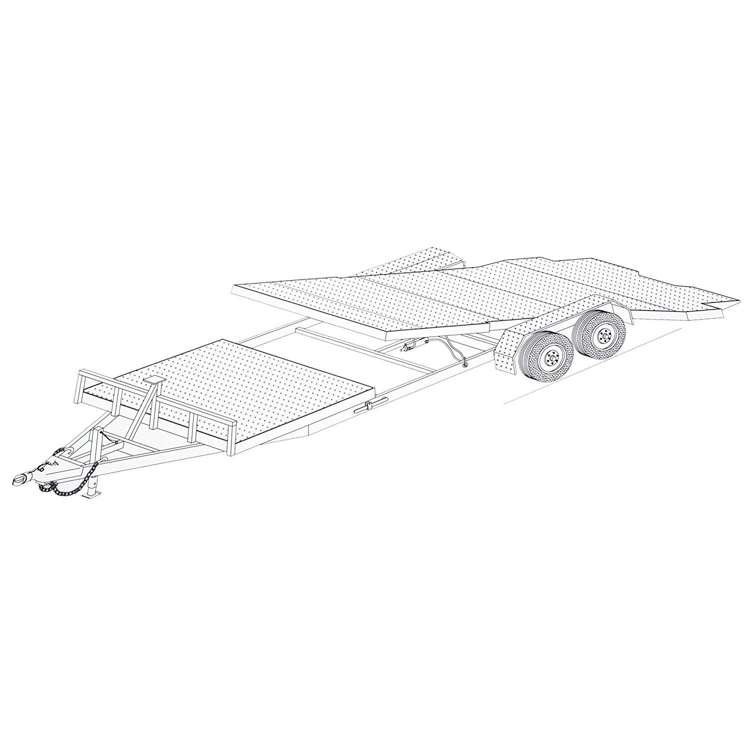 24 gravity tilt car hauler trailer plans blueprints model 24gt ebay rh ebay com