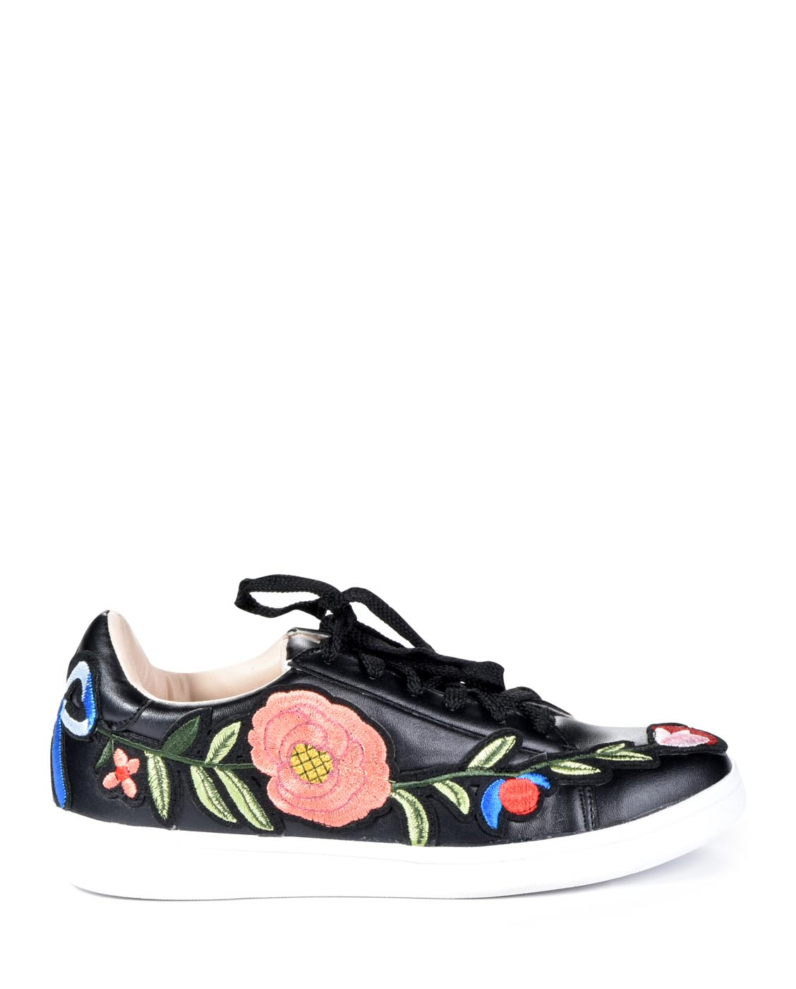 NEW CHASE & CHLOE FLORAL EMBROIDERED PLATFORM SNEAKERS CELINE1