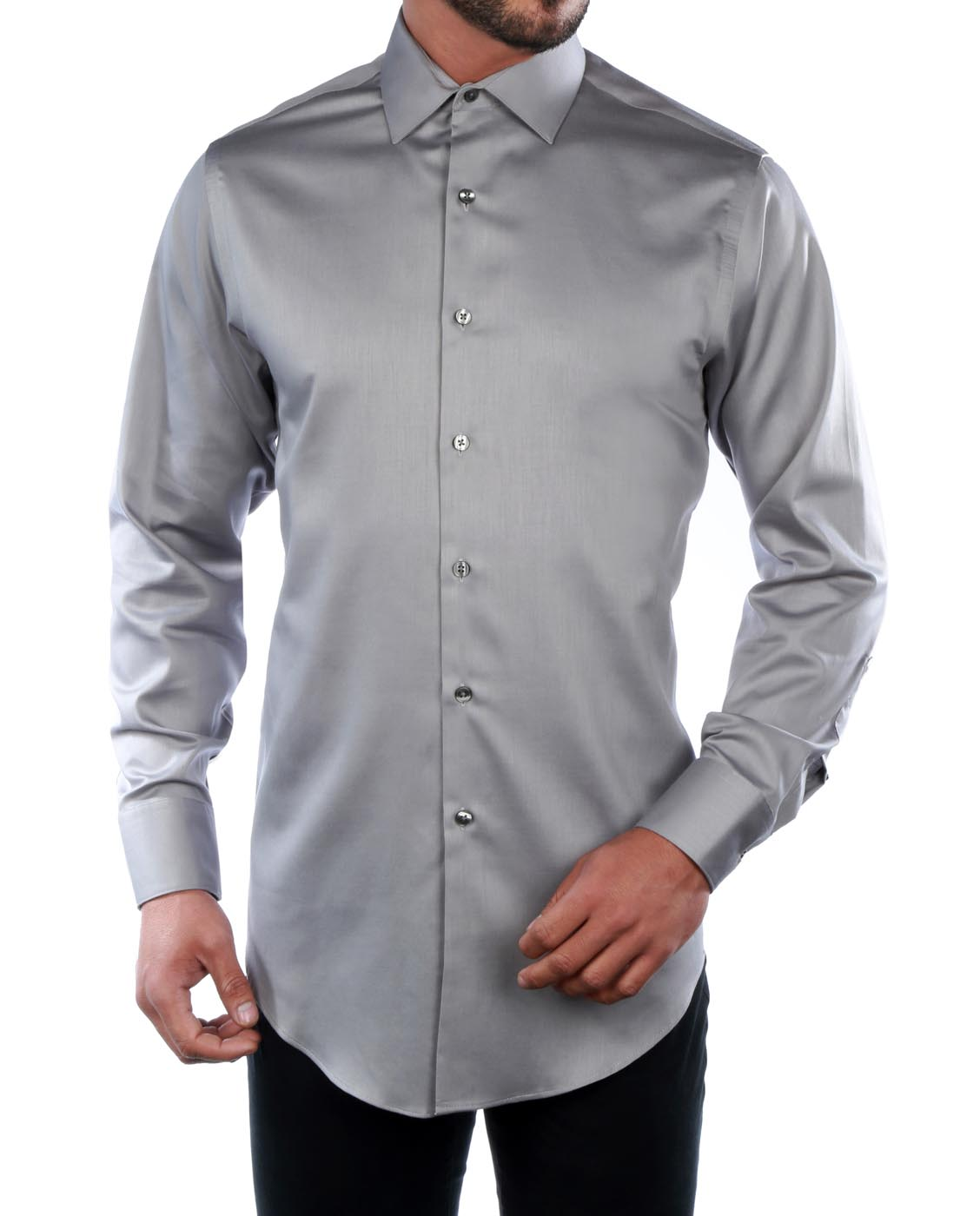 New Geoffrey Beene Classic Fit Sateen Dress Shirt 30b4255 Ebay