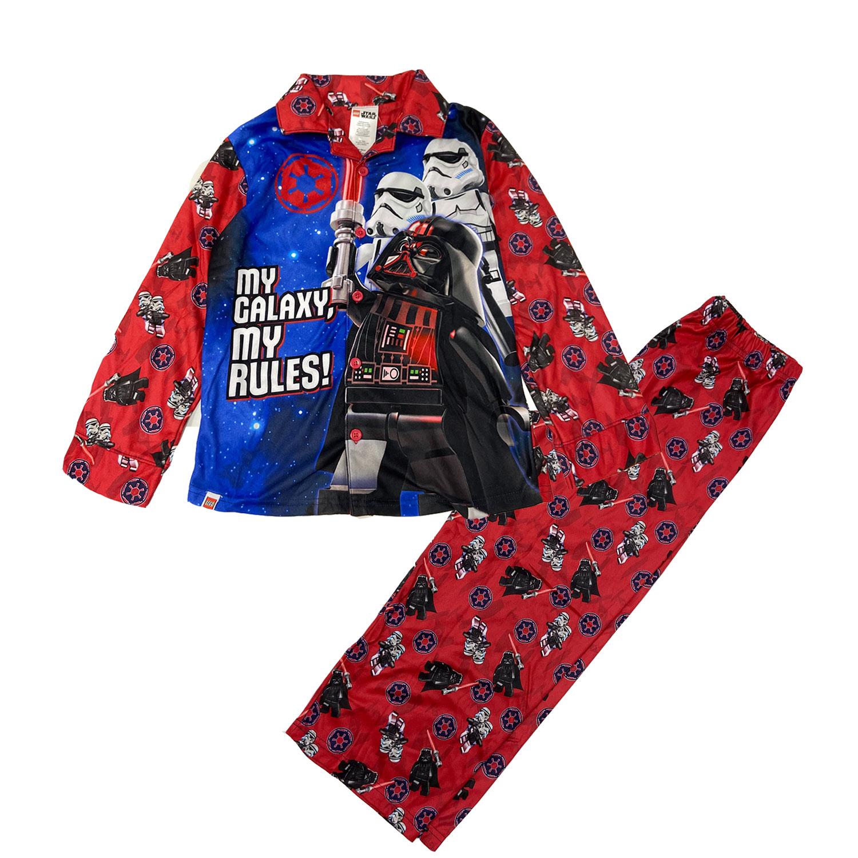 Lego Star Wars Red Top Blue Pants 2 Piece Pajama PJ Set Boys Size 6 NWT #1