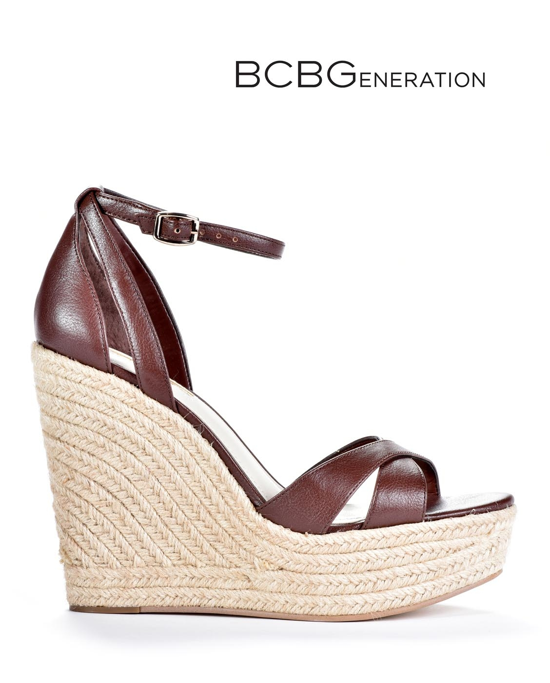 7bf5f50b8645 NEW BCBGENERATION WOMEN S HOLLY WEDGE OPEN TOE SANDALS BG-HOLLY