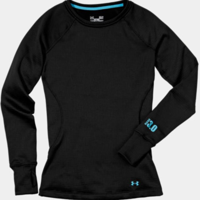 ad0f55290698ad Under Armour Women's Base 3.0 Crew Long Sleeve Base Layer (Black ...
