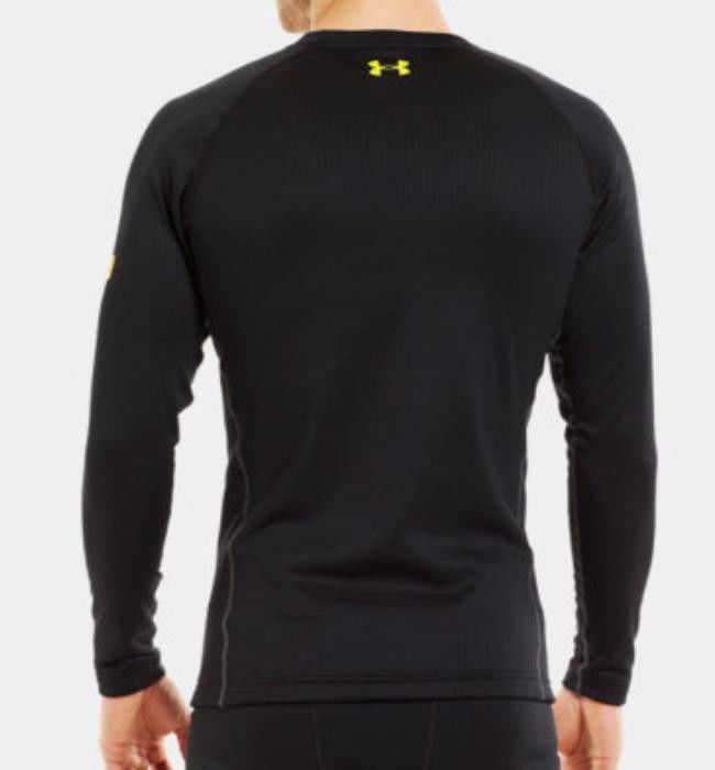 a2a666d74ca0ac Under Armour Men's Base 3.0 Crew Long Sleeve Base Layer (Black ...