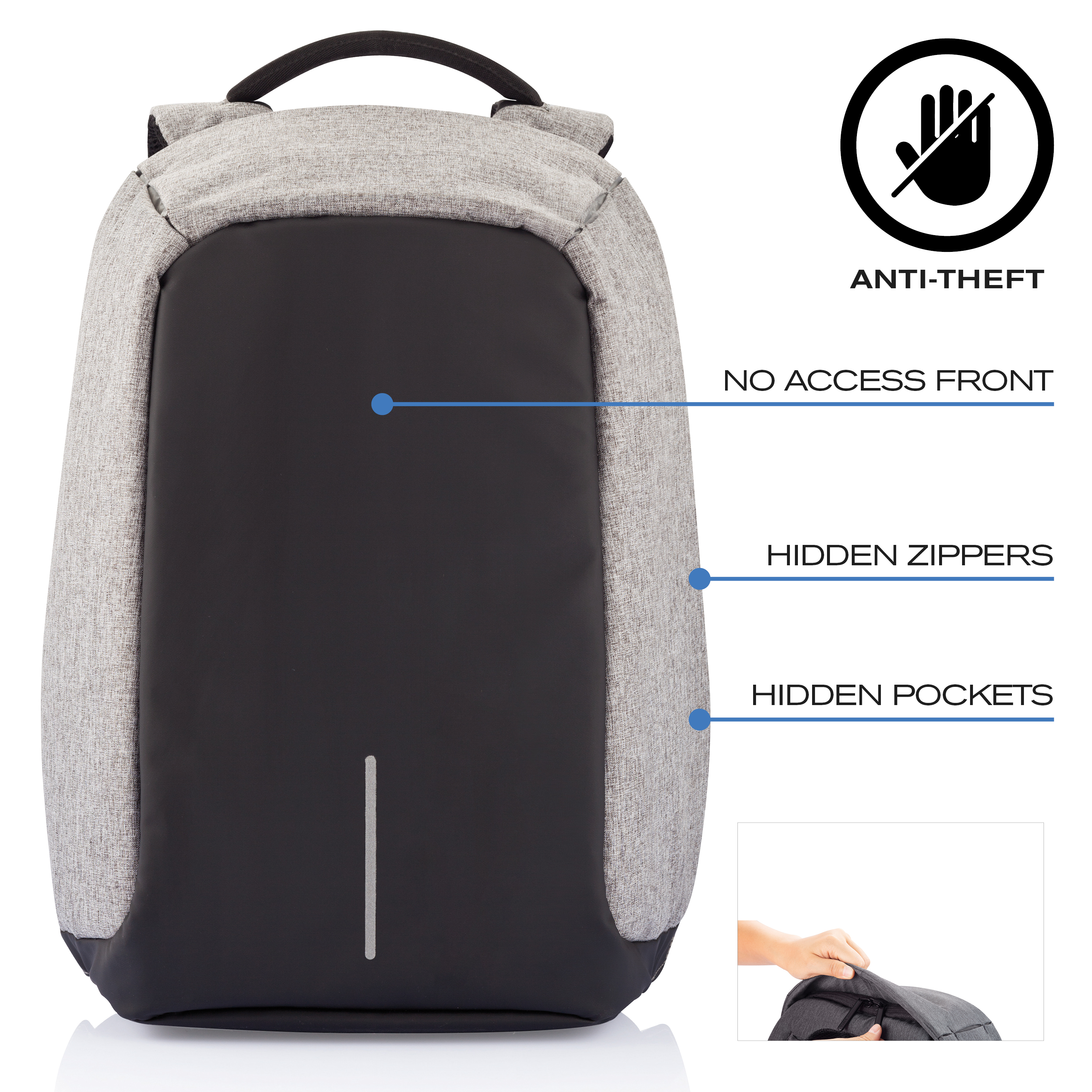 XD-Design-Bobby-XL-17-034-Anti-Theft-Laptop-Backpack-with-USB-Port-Unisex-Bag thumbnail 13