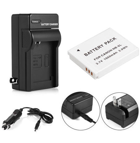 Nb 6l Battery Charger For Canon Powershot D10 S95 Sd1300