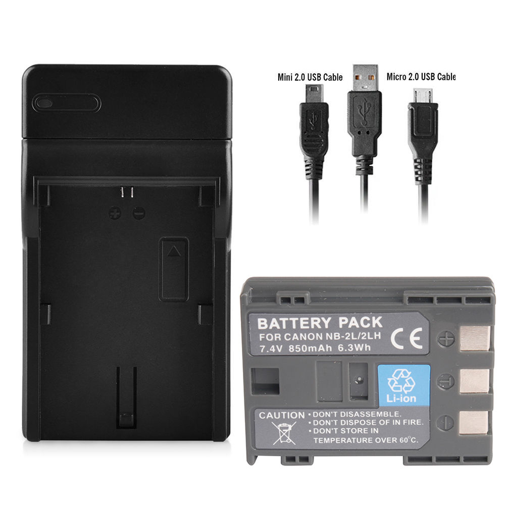 Nb 2l 2lh Battery 4 Port Charger For Canon Rebel Xtxti