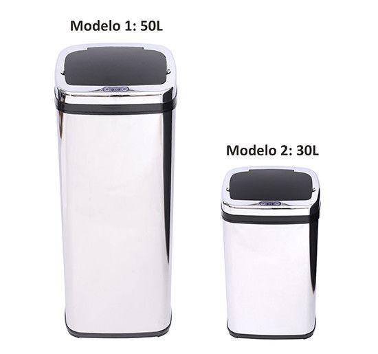 50L Cubo de Basura con Sensor Cubo de Cocina autom/ático Cubo autom/ático Papelera con Sensor