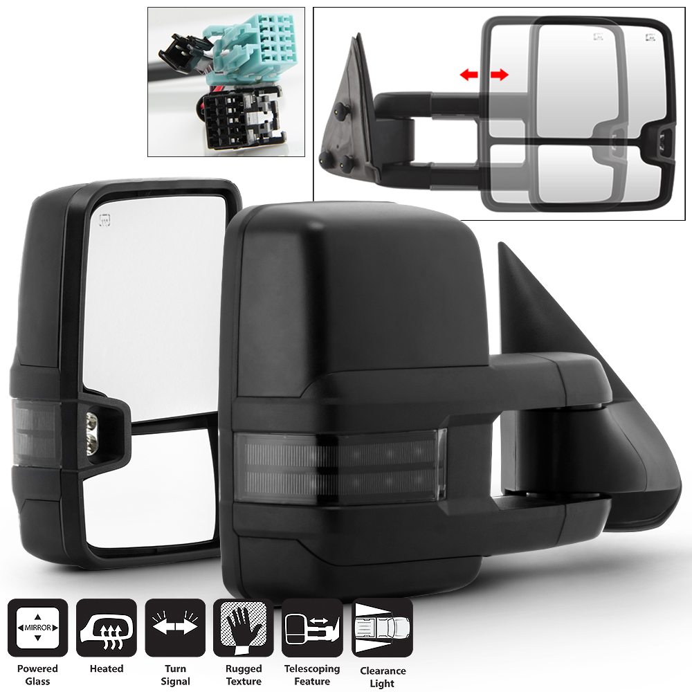 Manual Fold Towing Side Mirrors Driver+Passenger For 2003-2017 Chevy Express//GMC Savana Van LEFT+RIGHT 03-17 Acanii