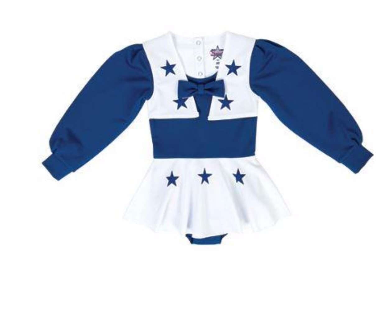 18e66c689a6 Dallas Cowboys Youth Girls Royal Blue and White Cheer Uniform | eBay
