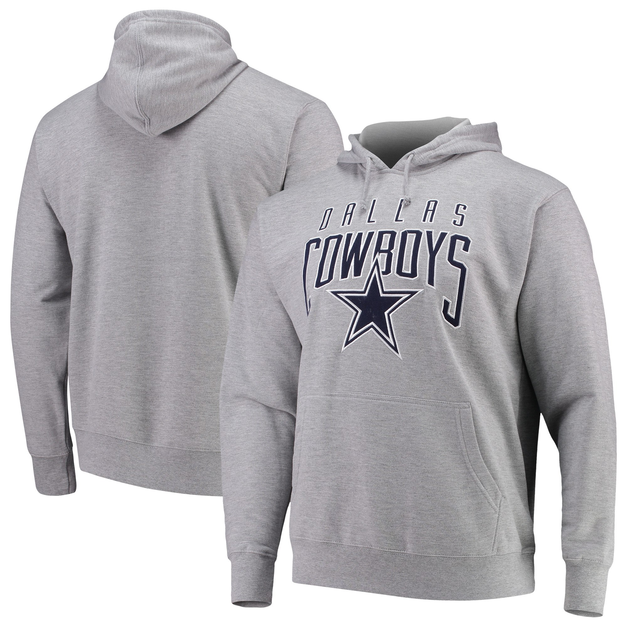 brand new c9e66 03d2f Details about Dallas Cowboys Men's Athletic Gray Rico Pullover Hoodie