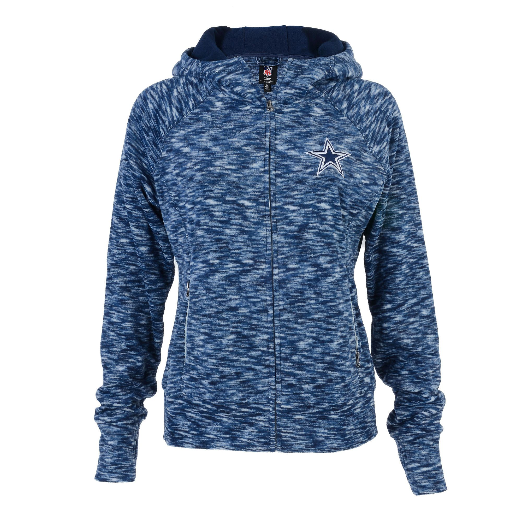 b02d7b4b1 Dallas Cowboys Women s Navy Blue Bluewag Space Dye Fleece Full-Zip Jacket -  2XL