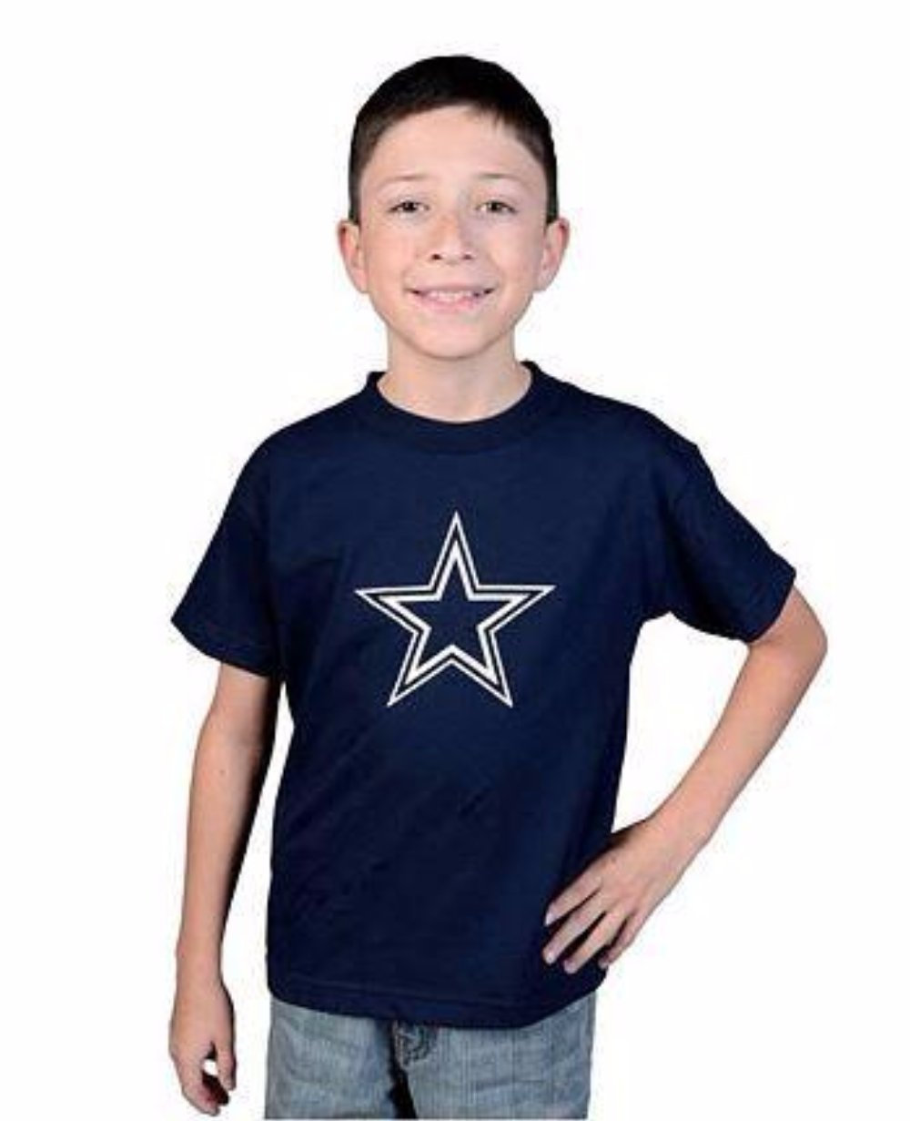 f9341da9628 Dallas Cowboys Kids Navy Blue Logo Premier T-Shirt - | eBay