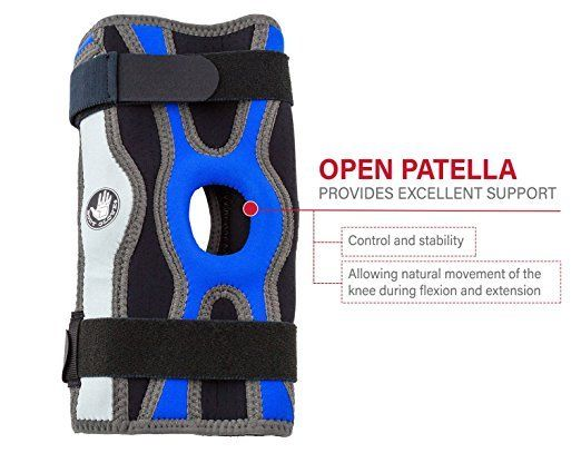 Body-Glove-5mm-Perforated-SBR-Sports-Hinged-Wraparound-Knee-Brace-BG-SWK-BLUE thumbnail 9