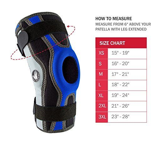 Body-Glove-5mm-Perforated-SBR-Sports-Hinged-Wraparound-Knee-Brace-BG-SWK-BLUE thumbnail 30
