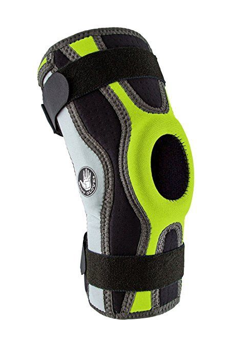 Body-Glove-5mm-Perforated-SBR-Sports-Hinged-Wraparound-Knee-Brace-BG-SWK-GREEN thumbnail 7