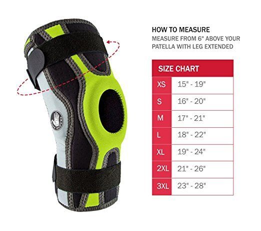 Body-Glove-5mm-Perforated-SBR-Sports-Hinged-Wraparound-Knee-Brace-BG-SWK-GREEN thumbnail 10