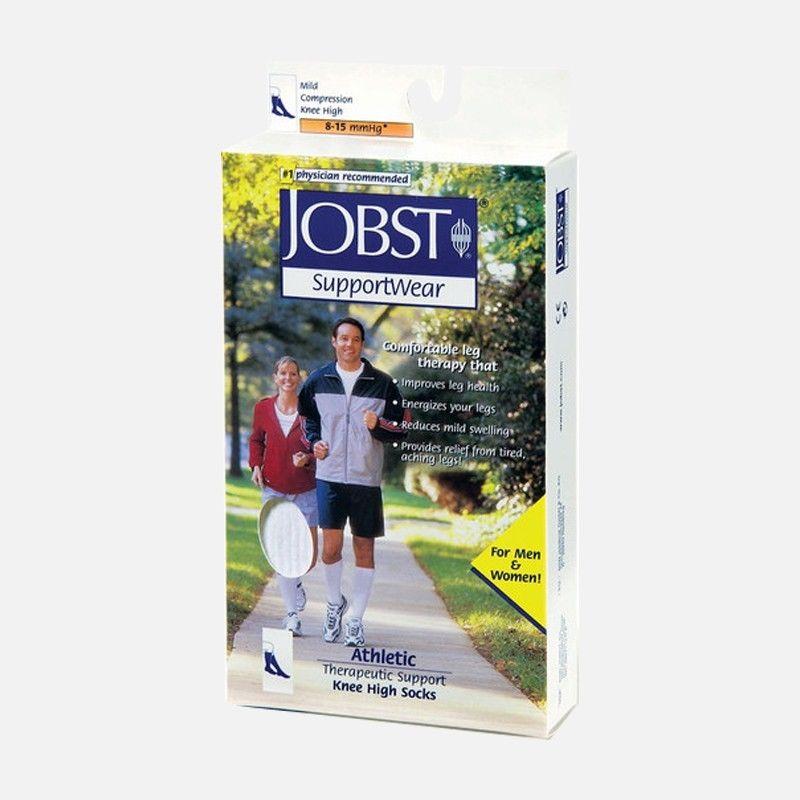 771090449e Jobst Athletic Knee High Socks 8 - 15 mmHg White NEW 110449 - 110451 ...
