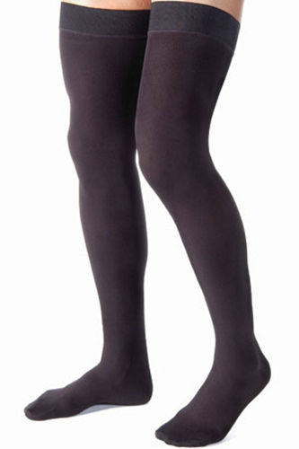 Jobst for Men 15-20 mmHg Thigh High Compression Socks Black
