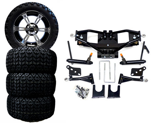 6 Lift Kit Combo For Club Car Ds 2004 W 14 Colossus Wheels Tires