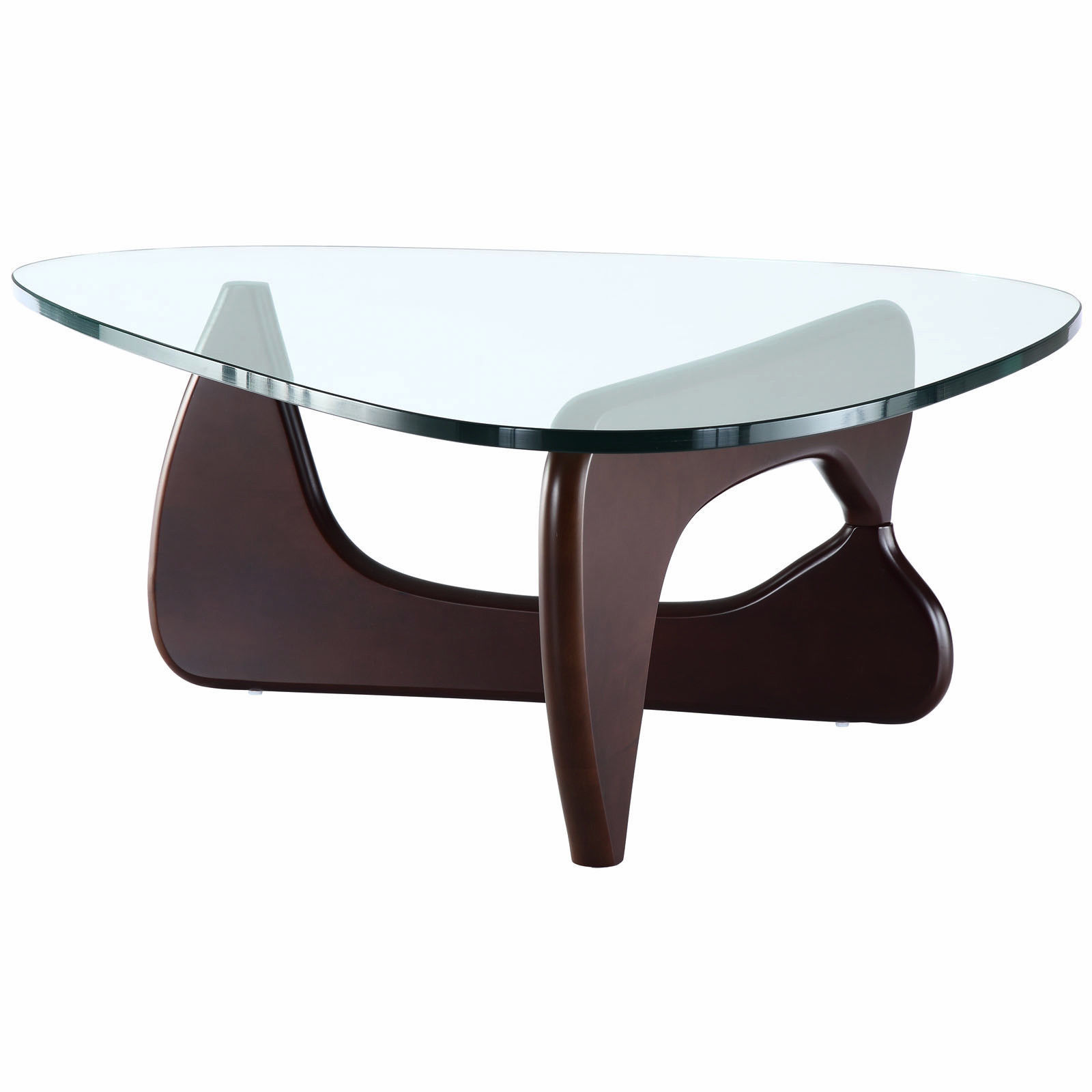 noguchi style triangle coffee table solid wood thick. Black Bedroom Furniture Sets. Home Design Ideas