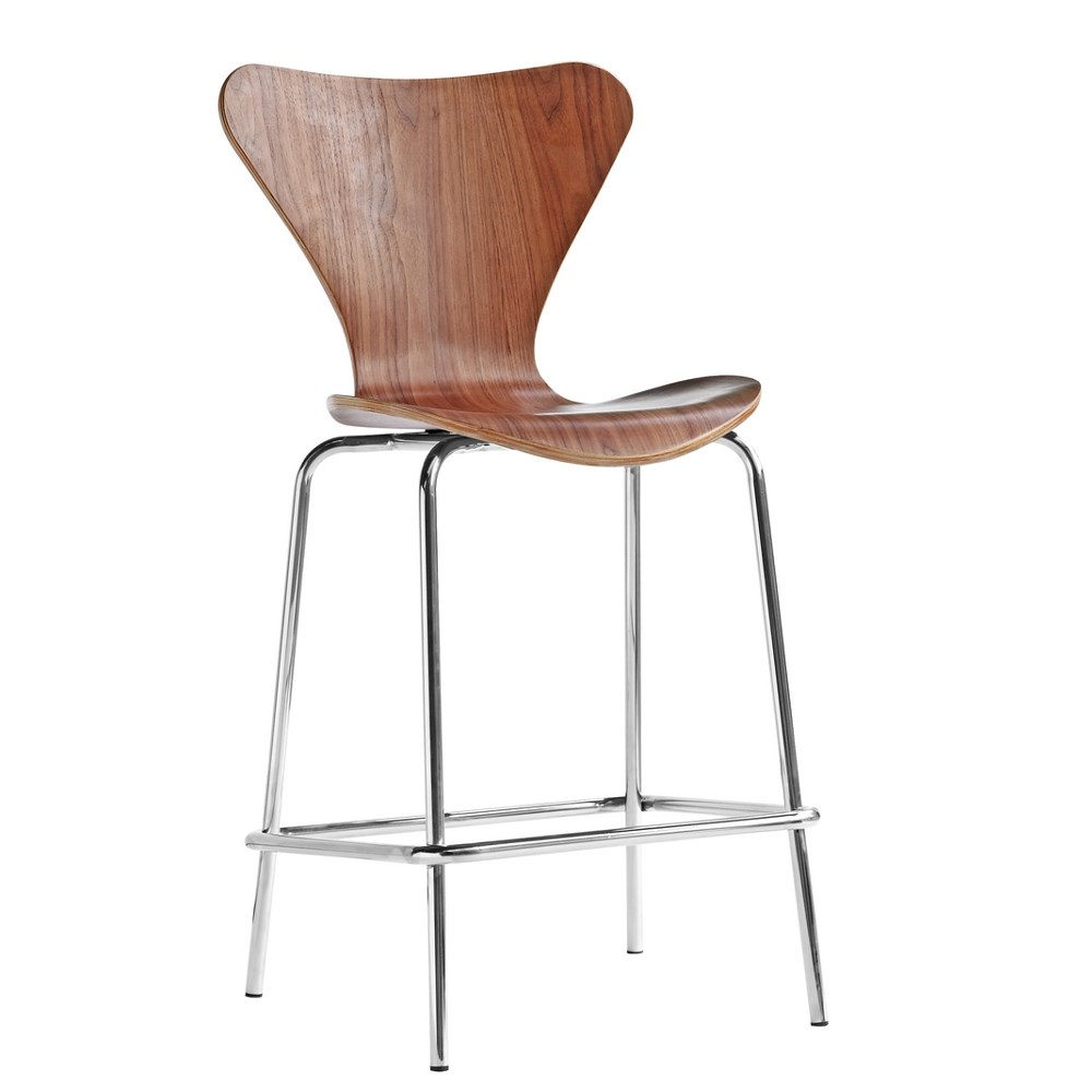 Astonishing Details About Cherner Style Molded Wood Mid Century Modern Counter Stool Machost Co Dining Chair Design Ideas Machostcouk